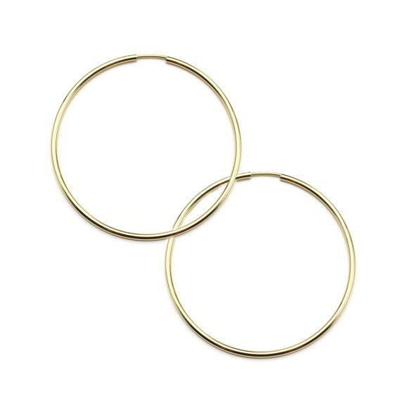 K18 フープピアス フープ ピアス HOOP PIERCE 18k 18金 ゴールド アンフィニ 1.5mm × 40mm メインイメージ