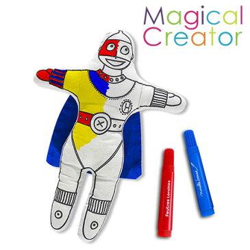 【ヒロコーポレーション】Magical Creatorマジカルクリエーター・クッション(スーパーマン)キッズ/ぬいぐるみ/人形/プレゼント/誕生日/男の子/女の子/知育玩具/ぬりえ