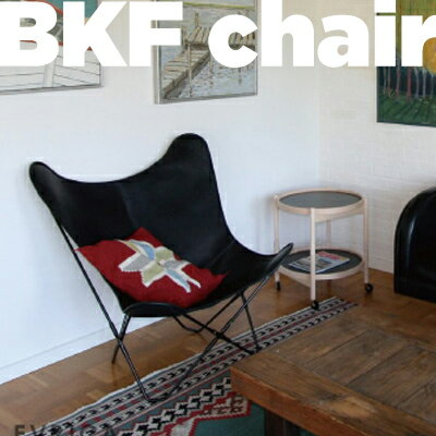 cuero/キュエロ BKF Chair/BKFチェア カラー:ブラック Butterfly Chair/バタフライチェアベジタブルタンニンなめし革/MoMA/ミッドセンチュリー/コルビジェ/イームズ/クエロ