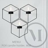 POV candle holder, Wall POVキャンドルホルダーmenu メニュー NOTE ノート壁掛けロウソク立て/蝋燭/candle/ランタン/北欧【コンビニ受取対応商品】【RCP】