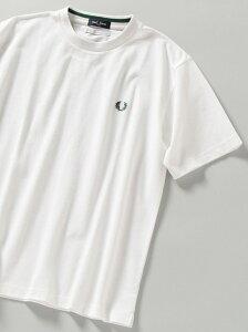[Rakuten Fashion]【WEB限定/SHIPS別注】FRED PERRY: SOLOTEX(R) 鹿の子 ワンポイント ロゴ Tシャツ SHIPS シップス カットソー Tシャツ ホワイト ブラック ブルー ネイビー【先行予約】*【送料無料】