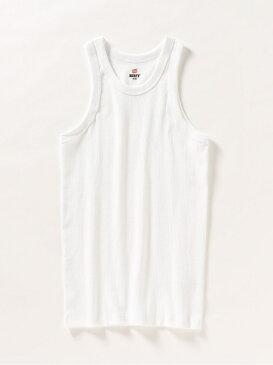 Hanes: ビーフィーリブタンクトップ SHIPS any シップス カットソー タンクトップ ホワイト ブラック[Rakuten Fashion]