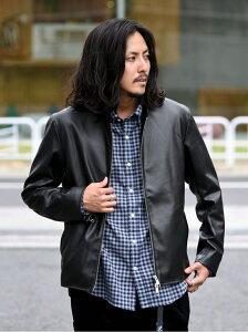 [Rakuten Fashion]SC: Synthetic Leather シングルライダース ジャケット SHIPS シップス コート/ジャケット ブルゾン ブラック ベージュ ネイビー【送料無料】