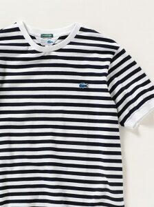 [Rakuten Fashion]SHIPSany×LACOSTE:別注PIQUE半袖リブクルーネックTシャツ SHIPS any シップス カットソー Tシャツ ブルー ホワイト ネイビー パープル【送料無料】
