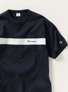【SALE/30%OFF】SHIPS any×Champion: 別注 パネル 半袖Tシャツ SHIPS any シップス カットソー Tシャツ ネイビー ホワイト ブラック ピンク【RBA_E】[Rakuten Fashion]