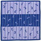 日本製 和風布物(綿チーフ)小風呂敷 和柄はんかち(ハンカチ) 縁起物 鯉の滝のぼり