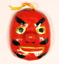 兵庫県伝統工芸品姫路張り子天狗面ミニ