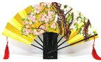 日本のお土産日本の伝統飾り扇子金地飾り扇子金箔地黒骨扇子(センス・せんす)桜・さくら・サクラ