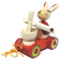 日本おもちゃ郷土玩具木地玩具十五夜お月見知育おもちゃからくりうさぎ