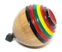 日本のおもちゃ郷土玩具お正月飾りレイアウト長崎県佐世保独楽(こま)【大】