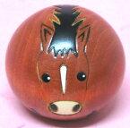 日本のお土産にも人気日本製 民芸品 工芸品卯三郎作 12干支 馬ゆらころ 午 こけし