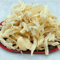 自社で競り落とした北海道産助宗鱈を自社の函館工場で加工したつまみ鱈の500gパックです。