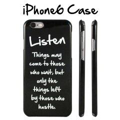 (メール便送料無料)iPhone6ケースカバー 英語デザインのスタイリッシュでシンプルなアイフォン6ケース モノトーン 白黒