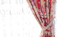 オリジナル直輸入オーダーカーテントルコ製シェニール織「トルコグレイスローズ」1.5倍ヒダ巾(101~200cm)×丈(~150cm)