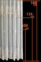 レースカーテンフランス製チュール「ジェルソー」巾~100cm×丈211~250cm2倍ヒダ