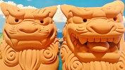 素焼きシーサー(大)2種類★沖縄・人気・置物・ペアシーサー・玄関・魔除け…