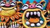 送料無料!!米子焼き★めんそーれ(L)★沖縄・ペアシーサー・カラフル・可愛い・人気・置物・祝い・土産…