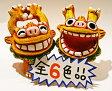 【シーサー・置物・玄関】米子焼★ワッショイ(6色)★沖縄・人気・新築祝い・内祝い・引っ越し祝い・寿・置物・赤・黒・ピンク・黄色・水色・グラデーション当店でとても人気のあるシーサーです♪