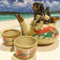 【シーサー・置物・玄関】米子焼★わらび(なんくるないさー)★置物・土産・人気・沖縄の魔除けペアシーサー・おみやげとして、新築祝い・内祝い・結婚式・出産祝い・お中元などにカラフルで可愛い置物はいかがですか?