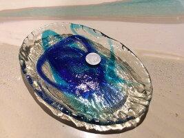 琉球ガラス★ゴーヤー小皿(2色)★沖縄・人気・土産・手作り・かわいい・きれい・ギフト…