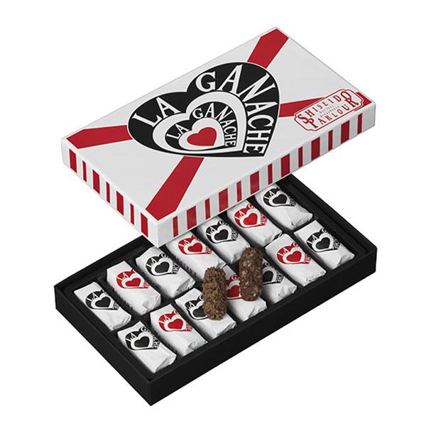 ギフトスイーツ資生堂パーラーラ・ガナシュ14個入プレゼント東京・銀座メッセージお祝いのしお菓子高級チョコレートショコラ個包装