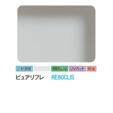 ★3M ピュアリフレ RE80CLIS 1270mm幅×60m/窓ガラスフィルム/ティント/日射調整/遮熱/飛散防止/UVカット/防虫/ハードコート