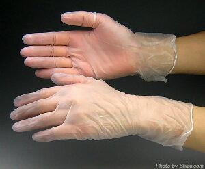 粉なしタイプの使い捨てビニール手袋です#2023 ビニール極薄手袋 粉なし 【100枚入】 多用途に...