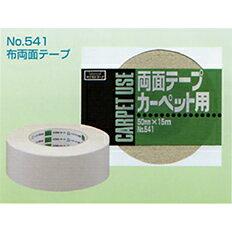 オカモト 布両面テープ No.541幅25mm×長さ15m×厚さ0.55mm 3ケース(60巻入×3ケース)(HA)