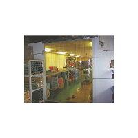 ビニールカーテン(のれん式)透明(フラット)厚み2mm×幅200mm×長さ12M巻