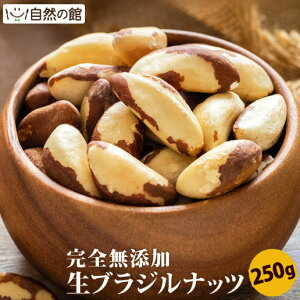 ブラジルナッツ 生 250g 送料無料 無塩 無添加 保存に便利なチャック付き [ ナッツ おつまみ おやつ お試しサイズ 自然の館 ] 保存食 非常食 訳あり