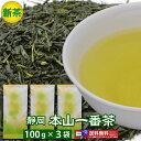 静岡【本山茶】100g×3袋メール便で送料無料(お茶 緑茶 日本茶 茶葉)【RCP】