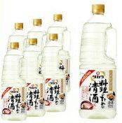 タカラ「料理のための清酒」1.8Lペット×6 1ケース1800ml 宝酒造 料理酒