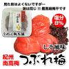 紀州南高梅つぶれ梅しそ風味520g入り塩分約8%梅干うめぇ梅本舗うめぼし