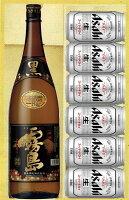 【送料無料】本格芋焼酎『黒霧島』1.8L・アサヒスーパードライ6缶芋焼酎とビールセットギフト お中元