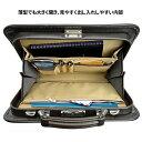 ビジネスバッグ 日本製 豊岡製鞄 メンズ 薄型 薄マチ 37cm A4 PHILIPE LANGLET フィリップラングレー がま口 送料無料 2