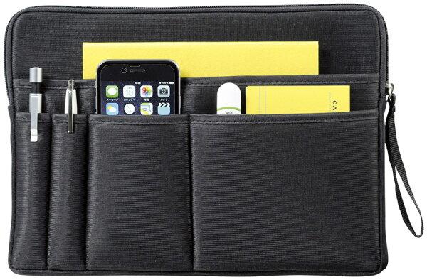 バッグインバッグバッグ内部を整理整頓3way仕様スマートクラッチバッグタブレットPCデジモノアクセサリーモバイルアクセサリー収納