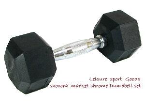 ダンベル 10kg 1個 片腕用一体型接続タイプだから音が出ない!安全性を重要視しました六角仕様!