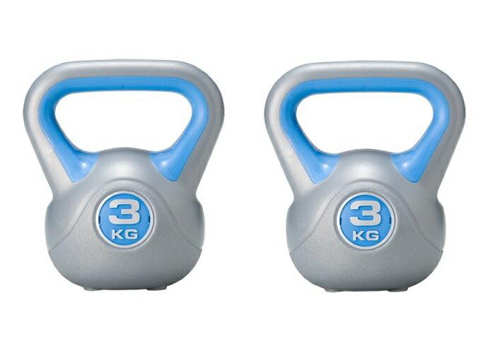 ケトルダンベル3kgX2点セット通常のダンベルと違い腕の筋力だけではなく全身のトレーニング