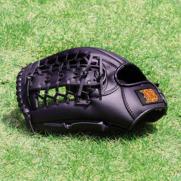 グローブミット野球軟式一般成人黒12インチグローブ右手装着用左投げ用品番191