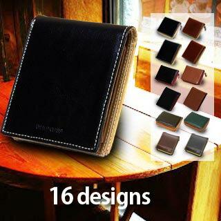二つ折り財布 折り財布 メンズ ブランド 本革 牛革 レザー box型 小銭入れあり 送料無料軽量 コンパクト 多収納 高コスパ ギフト