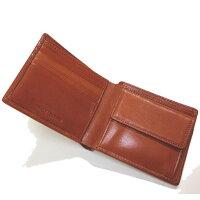 二つ折り財布メンズ送料無料【recurrence】イタリーレザー二つ折れウォレット