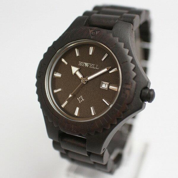腕時計 メンズ 日本製 ムーブ 日付カレンダー 天然素材 ウッドウォッチ 木製腕時計 軽量