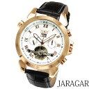 メンズ腕時計 【全針稼動の本格仕様】インナーベゼル自動巻きクロノグラフ腕時計【保証書付】