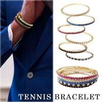 テニスブレスレット3点セットイタリアファッションストーンブレスレットカジュアルにフォーマルにも◎イタリアファッション好きに♪ブレスレットカラーホワイトブルーピンクレッドブラックグリーン