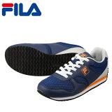 [フィラ]FILAFRU119レディース|カジュアルスニーカー|レトロランニングモデル|クラシック|ローカット|ネイビー×オレンジ