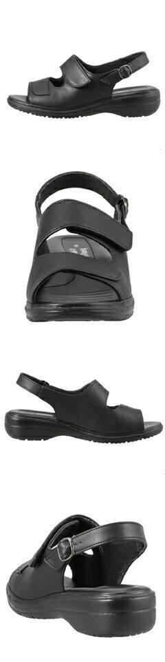 [バイオフィッター バイ パンジー] Bio Fitter BFL2741 レディース | オフィスサンダル 黒 | ナースサンダル ローヒール バックベルト | コンフォート クッション性 軽量 | 面ファスナー 着脱テープ 歩きやすい | ブラック