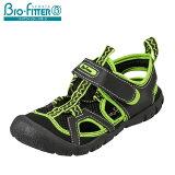 [バイオフィッタースポーツ]BioFitterBF-9126キッズジュニア|スポーツサンダル|アウトドアトゥガード|アクアシューズカジュアル|子供靴男の子男児|ブラック×ライム
