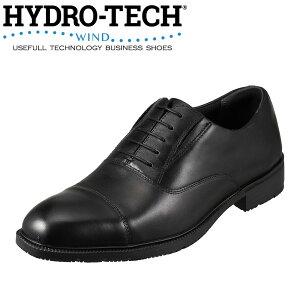 ハイドロテック ウィンド HYDRO TECH WIND ビジネスシューズ HD1203 メンズ靴 靴 シューズ ビジネスシューズ 防水 軽量 内羽根式 ストレートチップ 消臭 通気性 大きいサイズ対応 28.0cm ブラック