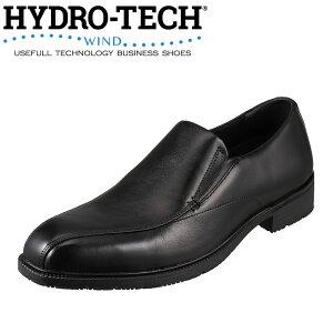 ハイドロテック ウィンド HYDRO TECH WIND ビジネスシューズ HD1205 メンズ靴 靴 シューズ ビジネスシューズ 防水 軽量 スリッポン 消臭 通気性 仕事 通勤 大きいサイズ対応 28.0cm ブラック