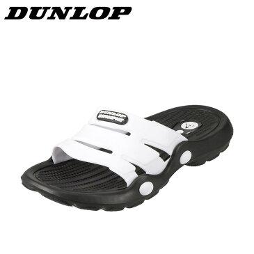 ダンロップ DUNLOP サンダル SW322A メンズ靴 靴 シューズ 3E相当 スポーツサンダル スポサン 軽量 幅広 シャワーサンダル ビーチサンダル ジム アウトドア レジャー ブラック×ホワイト